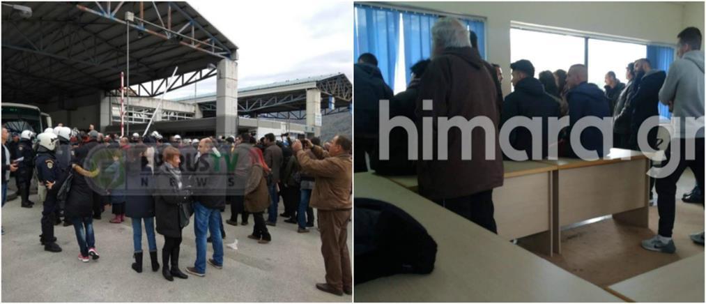 """Ένταση στα σύνορα: """"μπλόκο"""" σε Έλληνες για το μνημόσυνο του Κατσίφα (εικόνες)"""