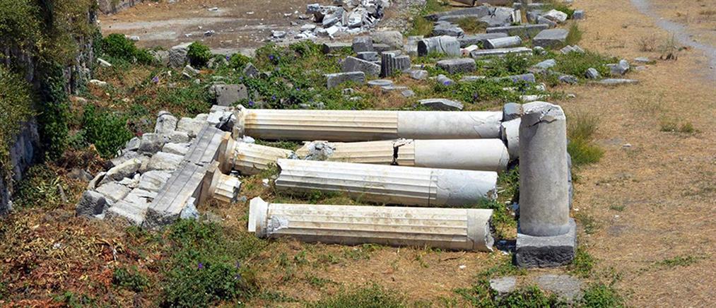 Ζημιές σε μνημεία και αρχαιολογικούς χώρους στην Κω (φωτο)