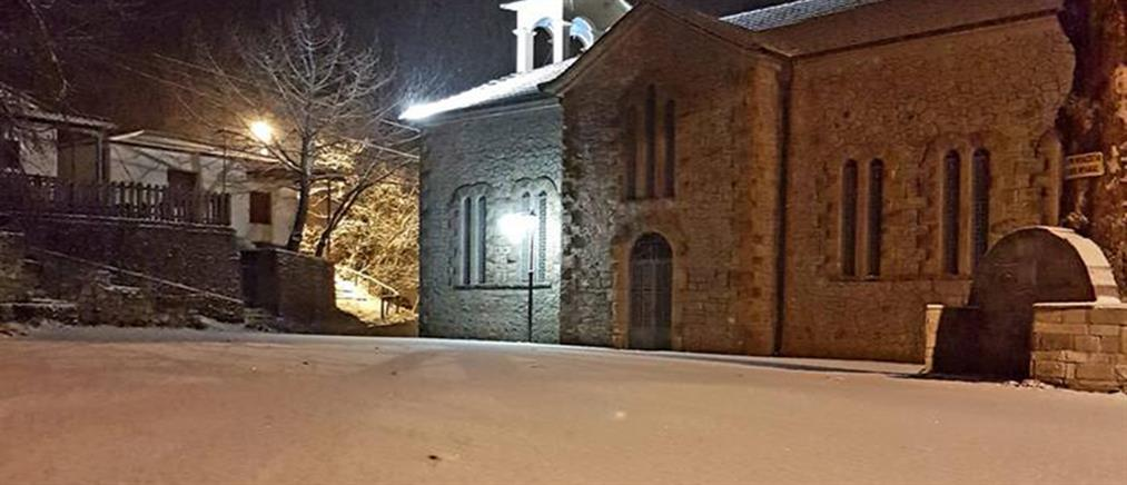 """Ο """"Λέανδρος""""... χτυπά με  ψύχος, χιόνια, παγετό και καταιγίδες (εικόνες)"""