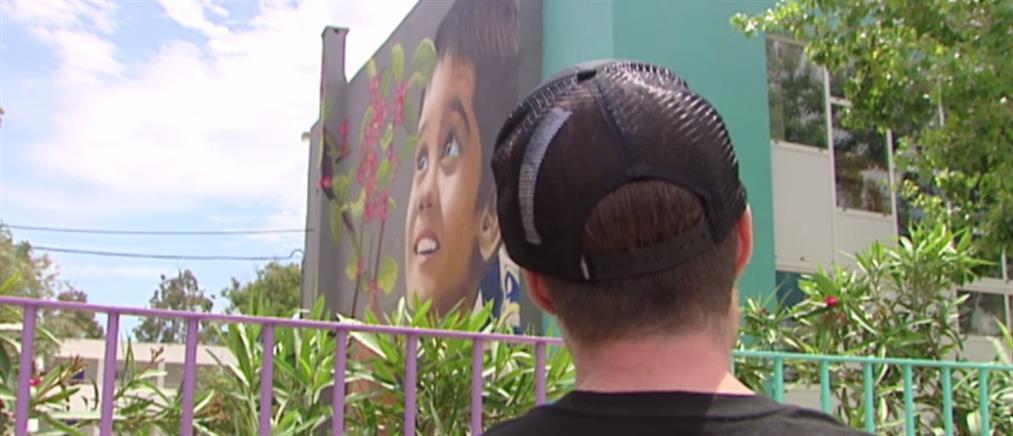 Ο καλλιτέχνης του συγκλονιστικού γκράφιτι για τους νεκρούς στο Μάτι στον ΑΝΤ1 (βίντεο)