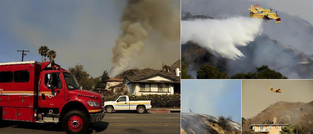 Πυρκαγιά στο Λος Άντζελες καίει και απειλεί κατοικίες