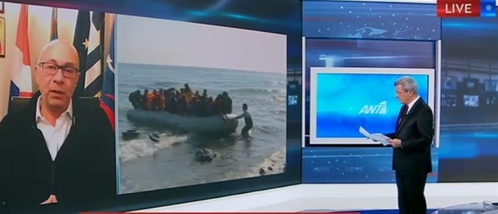 """Στάντζος στον ΑΝΤ1: """"Κλειδί"""" η φύλαξη των θαλάσσιων συνόρων (βίντεο)"""