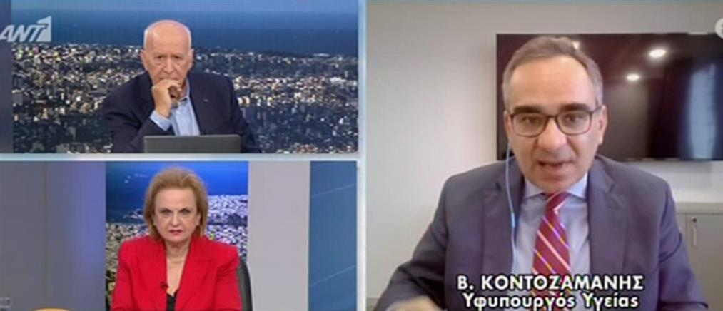 Κοντοζαμάνης στον ΑΝΤ1: Τα μέτρα για τον κορονοϊό αποδίδουν (βίντεο)