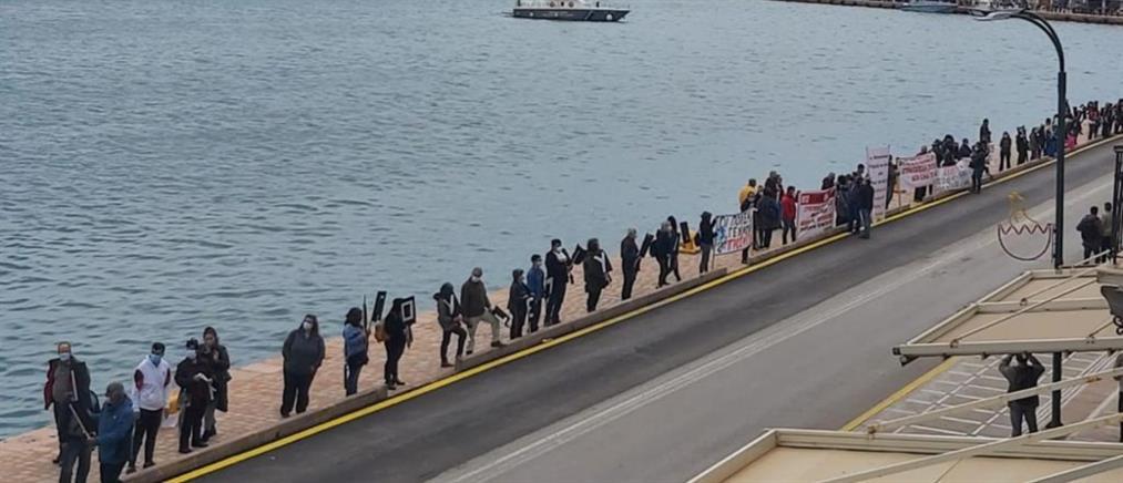 Μεταναστευτικό - Χίος: χωρίς συμμετοχή η διαμαρτυρία για την δομή (εικόνες)