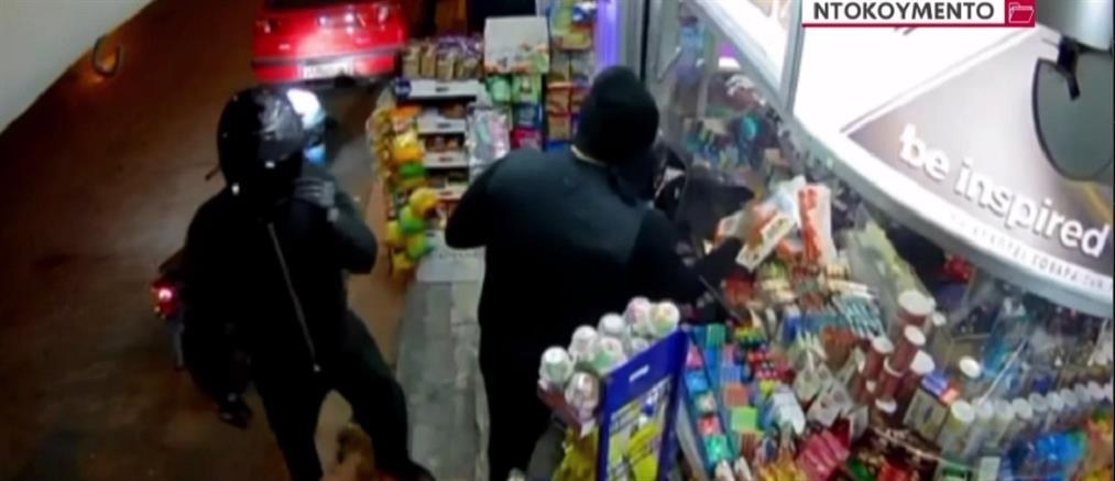 Καλλιθέα: βίντεο από ένοπλη ληστεία σε περίπτερο