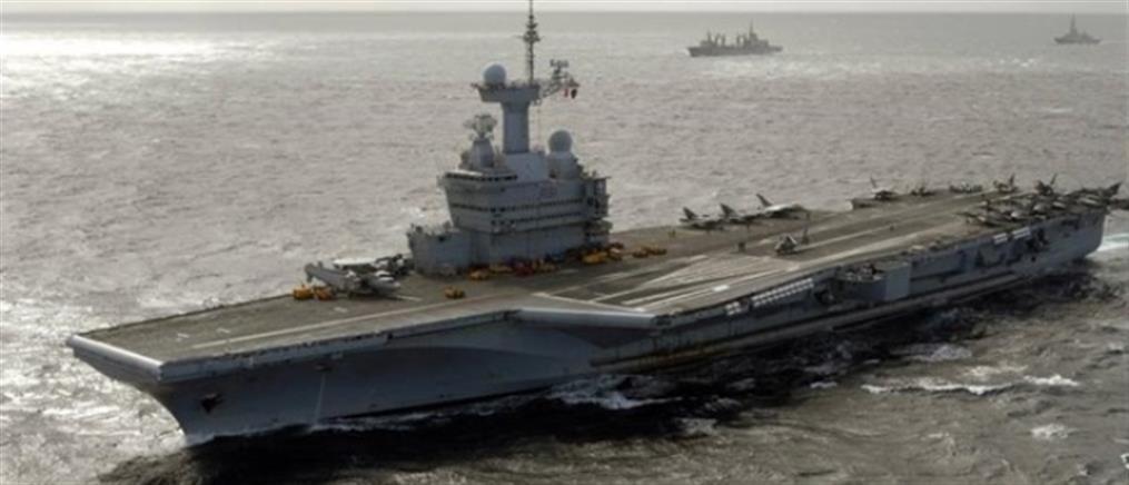 """Κυπριακή ΑΟΖ: στο τεμάχιο 8 το γαλλικό αεροπλανοφόρο """"Σαρλ ντε Γκωλ"""""""