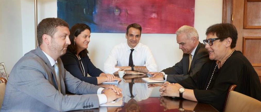Συνάντηση Μητσοτάκη με το Προεδρείο της Συνόδου των Πρυτάνεων
