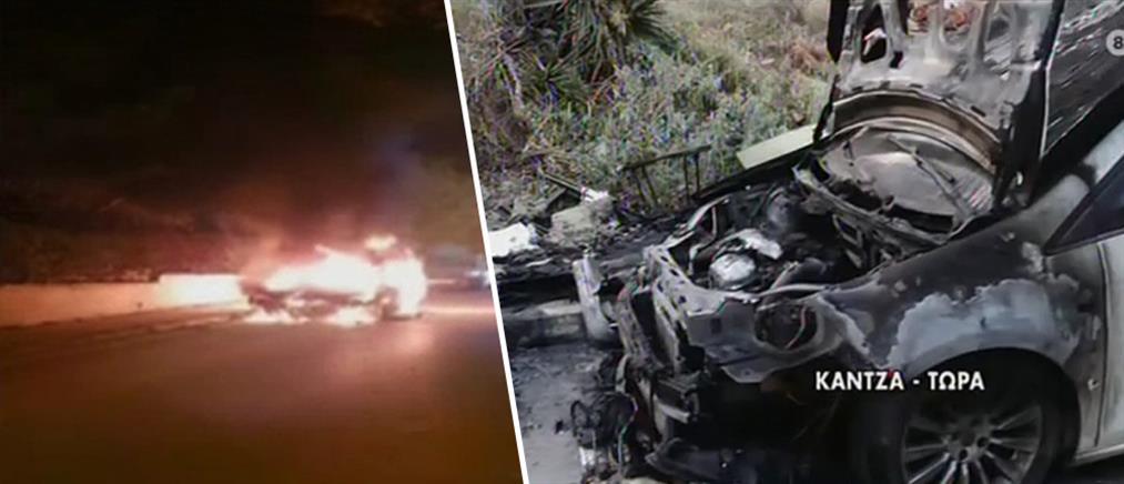 Εμπρησμός αυτοκίνητου - Λαμπάδιασε και το διπλανό ΙΧ (βίντεο)