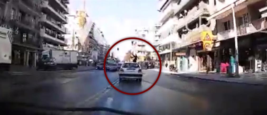 Βίντεο σοκ από παράσυρση πεζής στη Θεσσαλονίκη