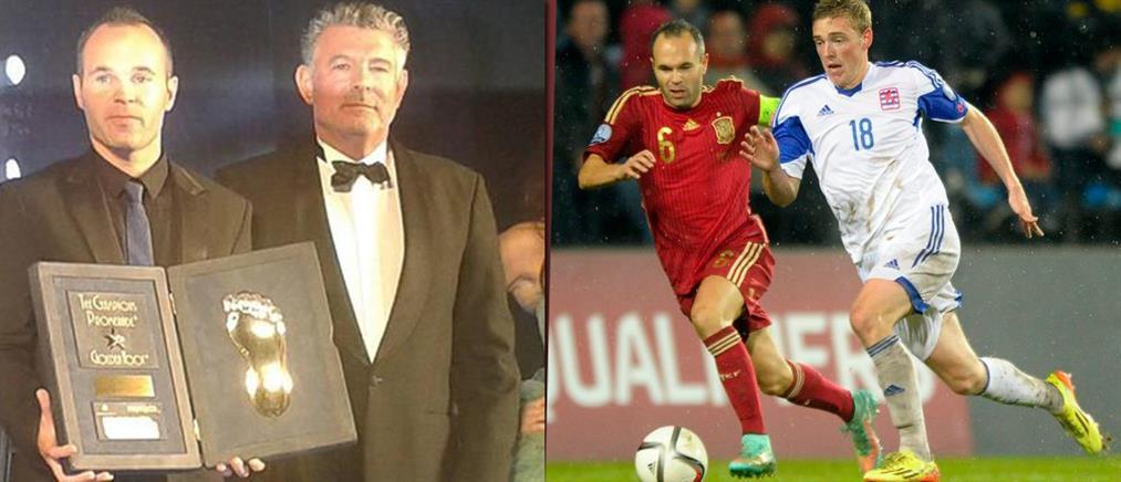 Golden Foot 2014: Νίκησε Ρονάλντο,Ρούνεϊ και Πίρλο ο Ινιέστα