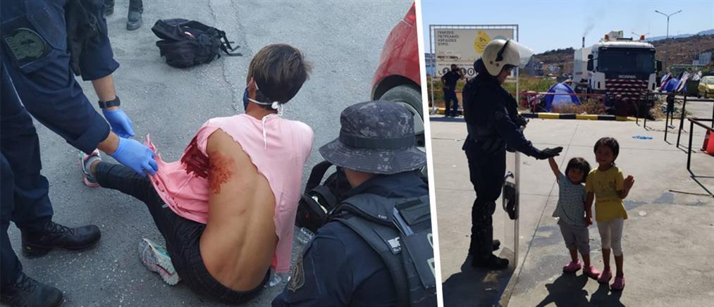 Το άλλο πρόσωπο της Αστυνομίας στην Μόρια (εικόνες)
