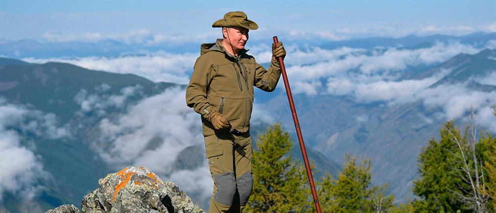 Στα…βουνά γιόρτασε τα γενέθλιά του ο Πούτιν (βίντεο)
