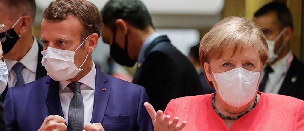 Μέρκελ, Μακρόν και Κόντε απειλούν με κυρώσεις την Τουρκία αλλά... δεν την κατονομάζουν