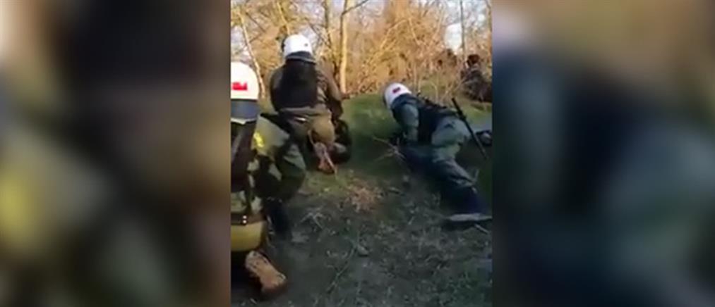 Έβρος: Πυρά κατά των ανδρών των ΜΑΤ (βίντεο)