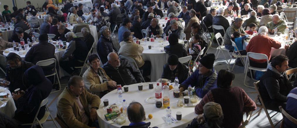 Πάνω από 800 άνθρωποι στο γεύμα αγάπης του Δήμου Αθηναίων