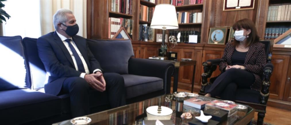Σακελλαροπούλου: Σταθερή η στήριξη της Ελλάδας στην Κύπρο