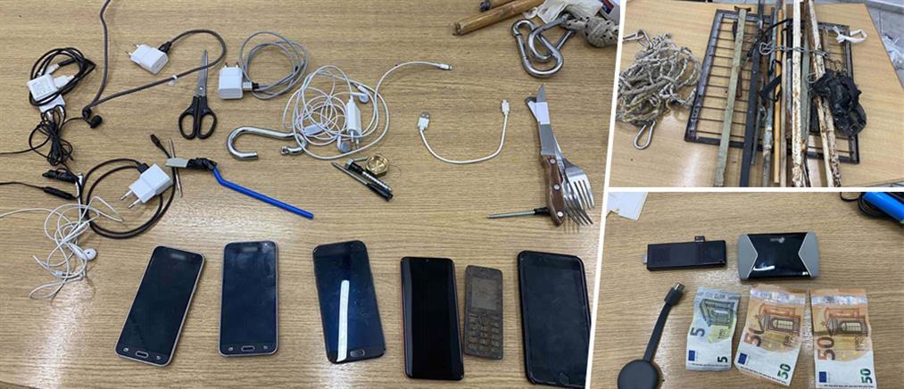 Φυλακές Κορυδαλλού: σύνεργα τατουάζ, ορειβατικά σκοινιά και γάντζοι σε κελιά (εικόνες)