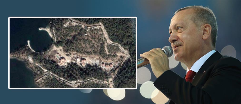 """Δεν """"αγγίζει"""" τον Ερντογάν η κρίση – Χτίζει παλάτι στη Μαρμαρίδα (εικόνες)"""