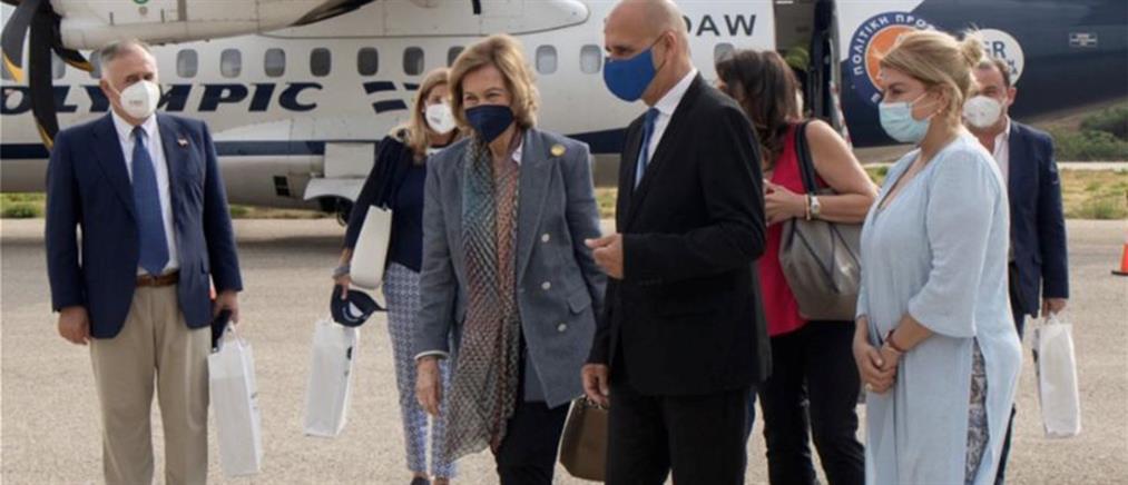 Στην Λέρο η βασίλισσα της Ισπανίας Σοφία (εικόνες)
