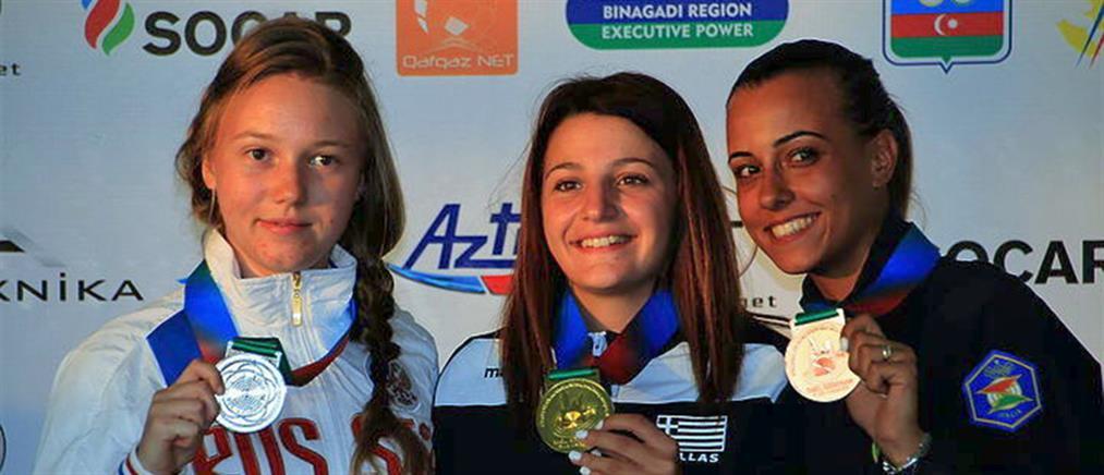 Χρυσό μετάλλιο με παγκόσμιο ρεκόρ για την Κεφαλίδου στην σκοποβολή