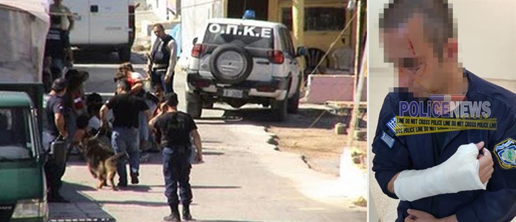 Τραυματίστηκαν αστυνομικοί σε συμπλοκή με Ρομά (εικόνες)