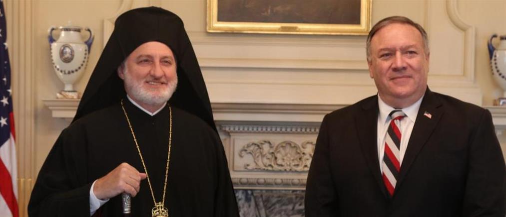Αρχιεπίσκοπος Αμερικής στον ΑΝΤ1: Οι διαβεβαιώσεις που έλαβα από τον Μάικ Πομπέο (βίντεο)