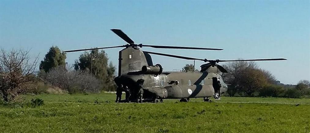 Αμερικανικά ελικόπτερα στο αεροδρόμιο της Ρόδου (βίντεο)