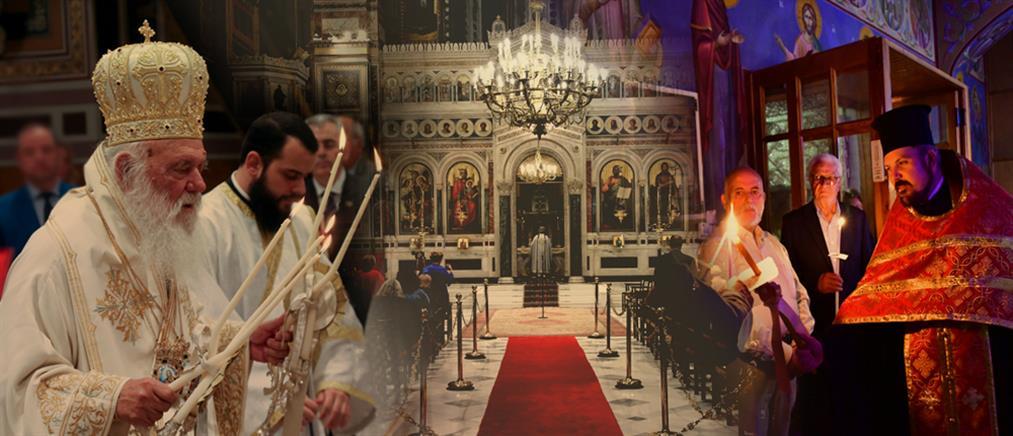 """Απόδοση Πάσχα: """"Χριστός Ανέστη"""" με πιστούς στους ναούς (εικόνες)"""