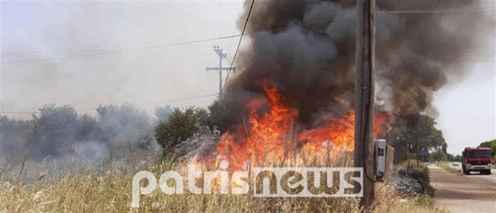 Τραυματισμός πυροσβέστη σε φωτιά στη Μούτελη