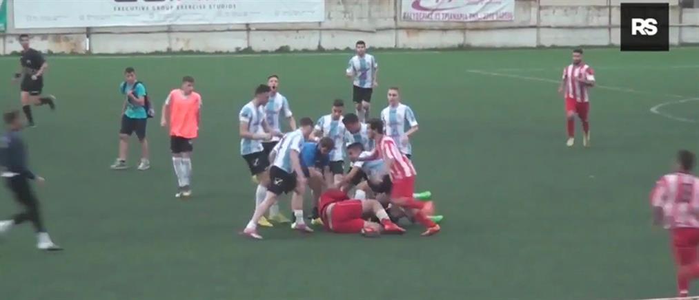 Απίστευτο ξύλο σε αγώνα τοπικού πρωταθλήματος στην Μακεδονία (βίντεο)
