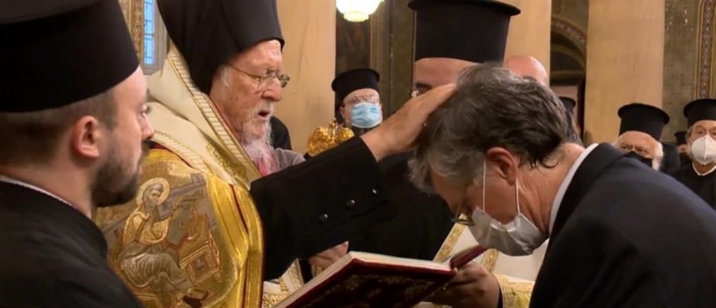 Άρχοντας Οφφικιάλιος ο Τσιόδρας - Χειροθετήθηκε από τον Βαρθολομαίο (βίντεο)