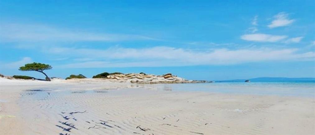 Καρύδι: Εξαφανίστηκε η θάλασσα από την παραλία (εικόνες)