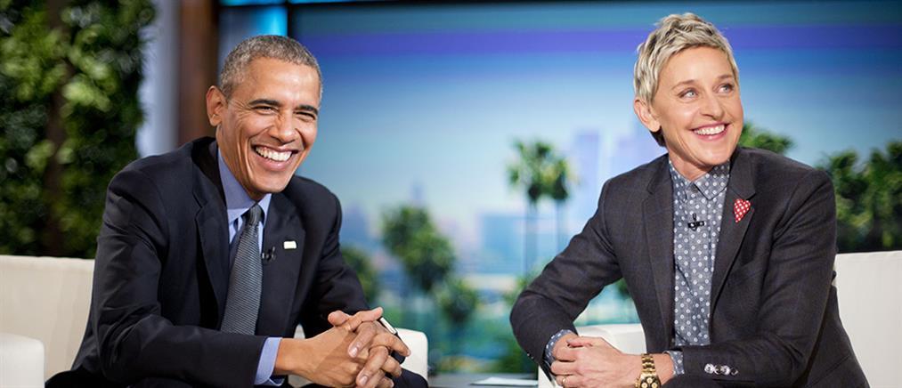 Αποκαλυπτικός Ομπάμα στο σόου της Ellen DeGeneres (βίντεο)
