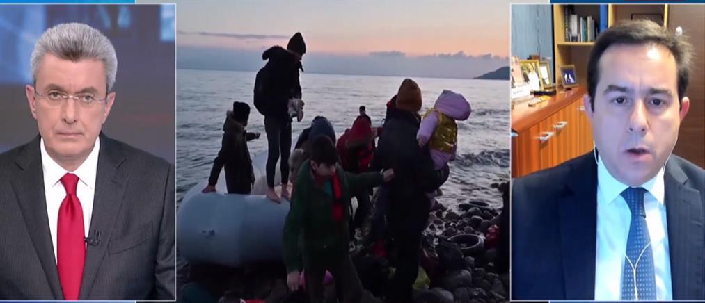 Μηταράκης στον ΑΝΤ1: Η Τουρκία θέτει σε κίνδυνο ζωές στο Αιγαίο (βίντεο)