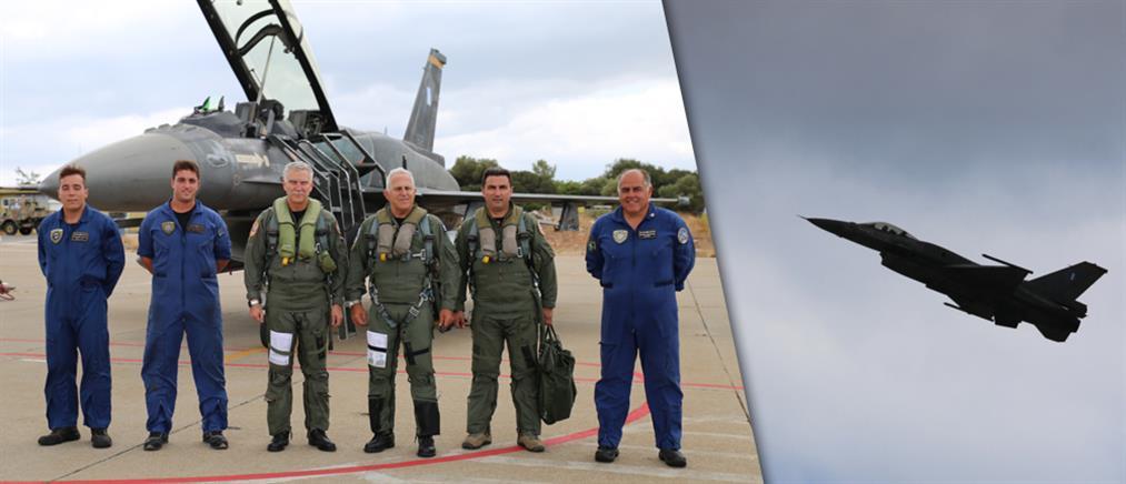 Πτήση του Αρχηγού ΓΕΕΘΑ με F-16 (φωτο)