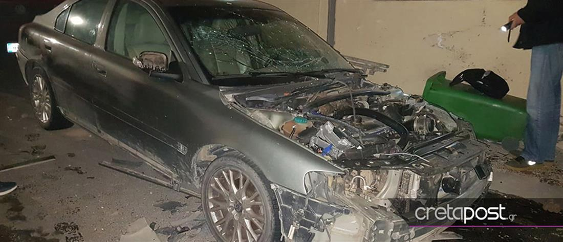 Έκρηξη σε αυτοκίνητο στο κέντρο του Ηρακλείου (εικόνες)