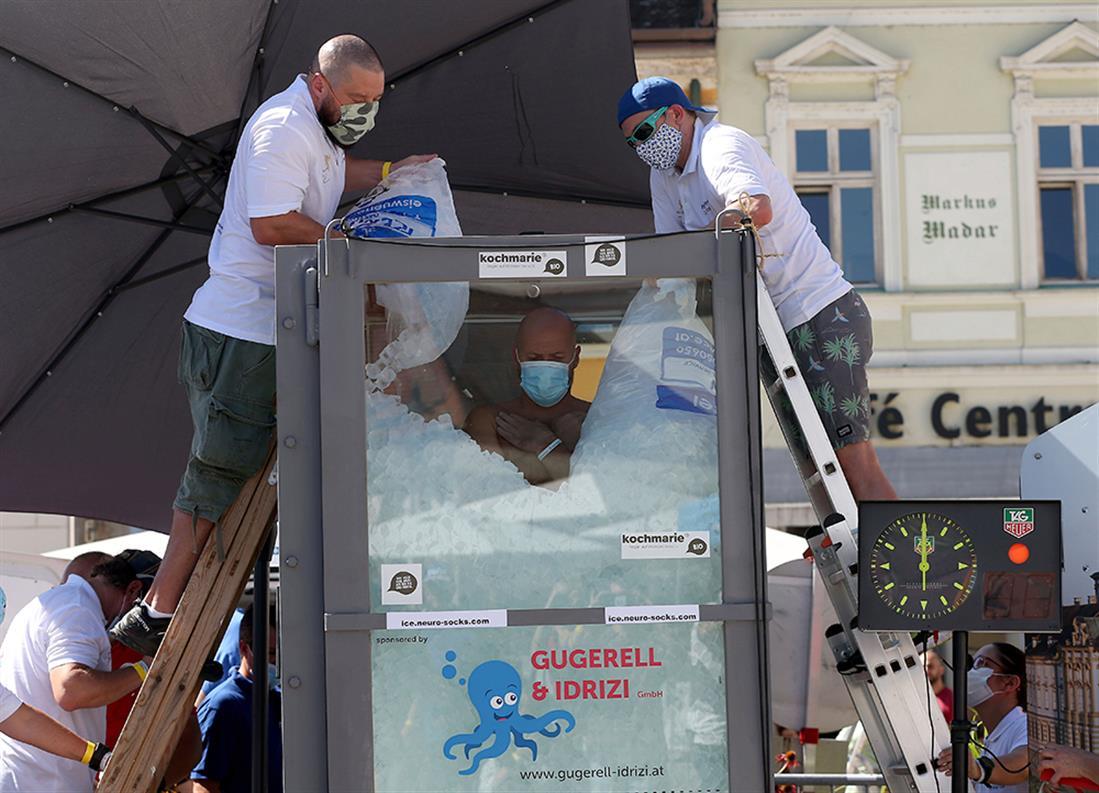 Παγκόσμιο ρεκόρ - Josef Koeberl - πάγος - παγάκια
