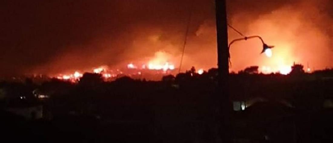 Ζάκυνθος: φωτιά σε Έξω Χώρα και Μαριές (εικόνες)