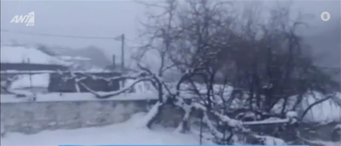 """""""Μήδεια"""": Χιόνια στην Πάρνηθα (βίντεο)"""