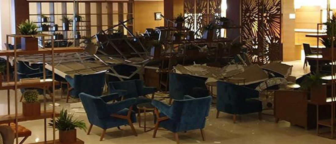 Κατεχόμενα: Πανικός σε ξενοδοχείο από διαδοχικές εκρήξεις (εικόνες)