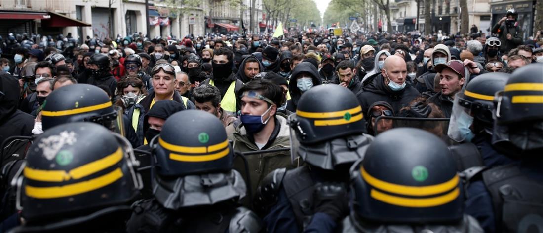 Πρωτομαγιά: Σφοδρές συγκρούσεις στο Παρίσι (βίντεο)