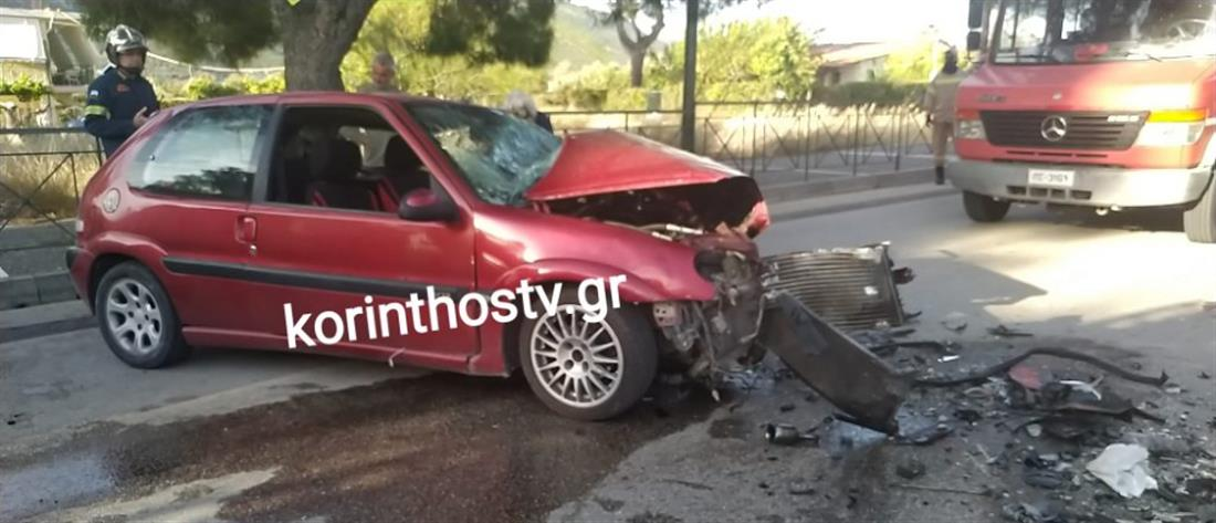 Τροχαίο στο Λουτράκι: Νεκρός μετά από σύγκρουση αυτοκινήτων (βίντεο)