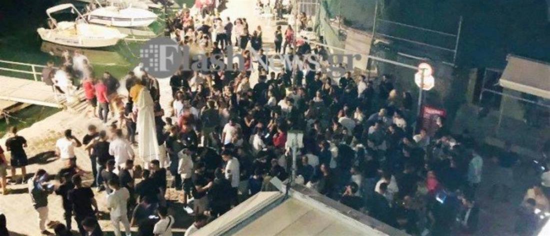 Χανιά - κορονοπάρτι: απίστευτος συνωστισμός μετά την Ανάσταση (εικόνες)