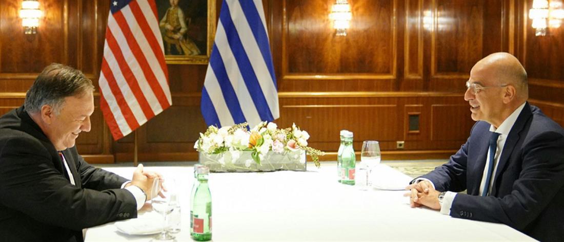 Δένδιας σε Πομπέο: στο υψηλότερο επίπεδό τους οι σχέσεις Ελλάδας και ΗΠΑ