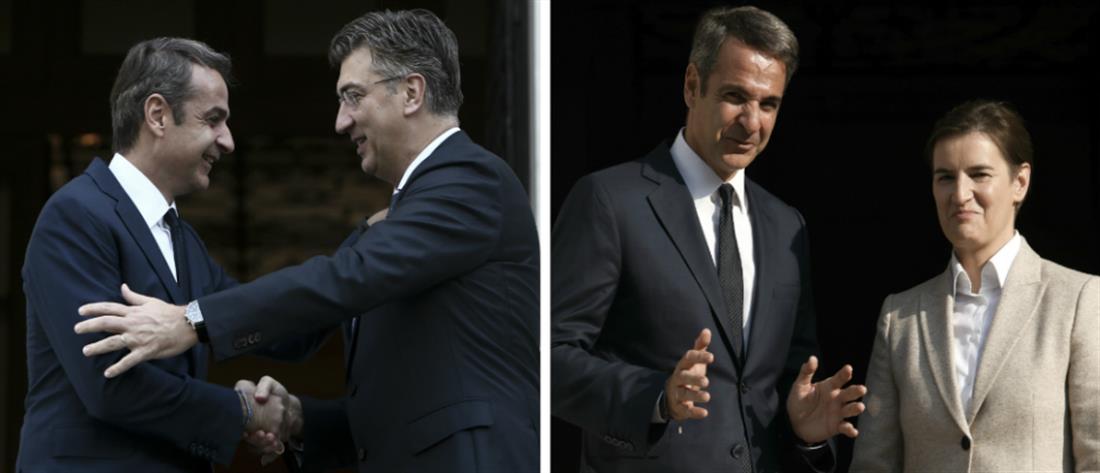 """""""Τετ α τετ"""" Μητσοτάκη με τους Πρωθυπουργούς Κροατίας και Σερβίας"""