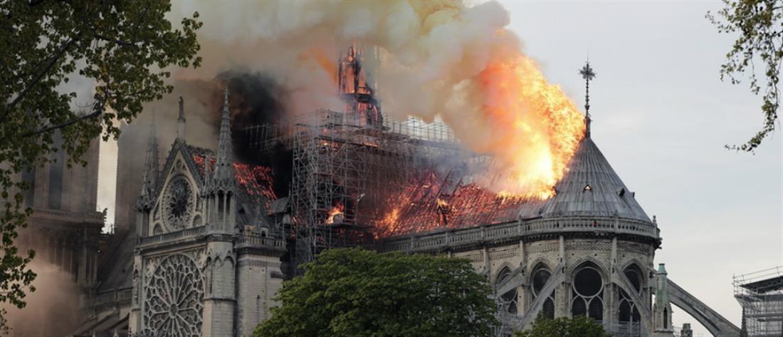 Παγκόσμιο σοκ από την καταστροφή της Παναγίας των Παρισίων (βίντεο)