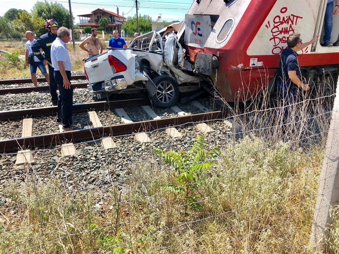 Τρένο - αυτοκίνητο - Θεσσαλονίκη