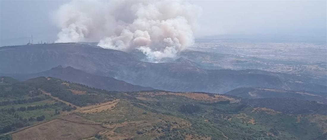 Ιταλία: Εφιαλτικές φωτιές στη Σαρδηνία και βοήθεια από την Ελλάδα  (εικόνες)