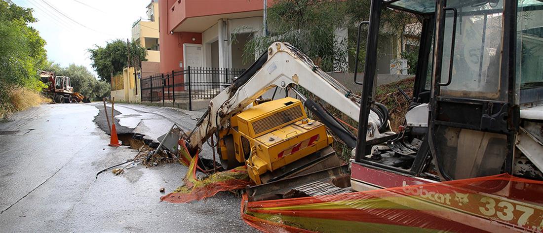 """""""Βούλιαξε"""" η Κρήτη από τη βροχή (εικόνες)"""
