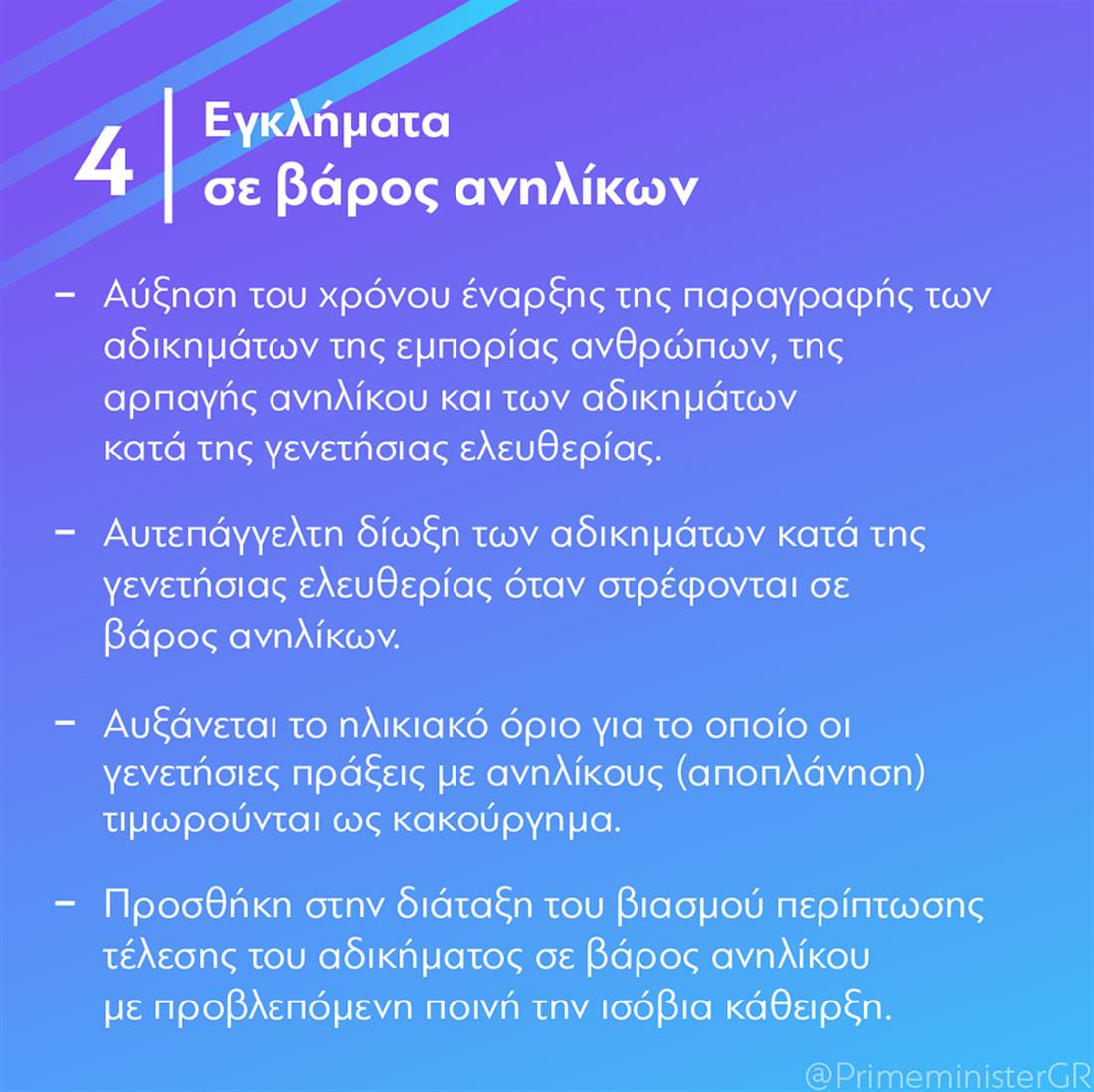 Κυριάκος Μητσοτάκης - Ποινικοί Κώδικες